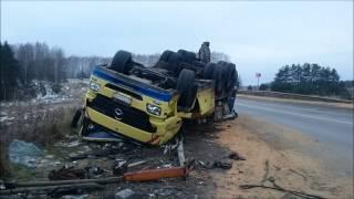 Автопоезд с зерном перевернулся в Нижегородской области(, 2016-11-19T13:48:01.000Z)