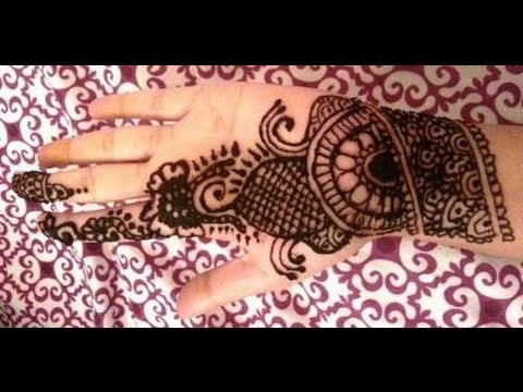 Simple Indian Henna Design Easy Mehndi Design For Palm Youtube