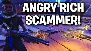 Crying RICH KID Scams Himself! 😂😎 (Scammer Get Scammed) Fortnite Save The World