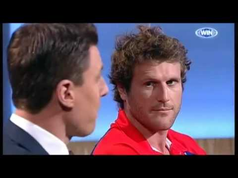Campbell Brown & Matthew Lloyd square off on Sunday Footy Show (28 Apr 2013)