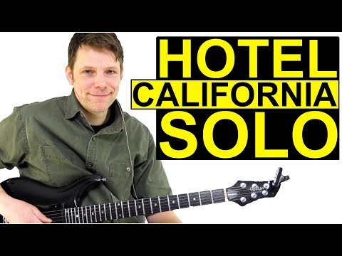 How To Play Hotel California Guitar Lesson Solo Tutorial - USA