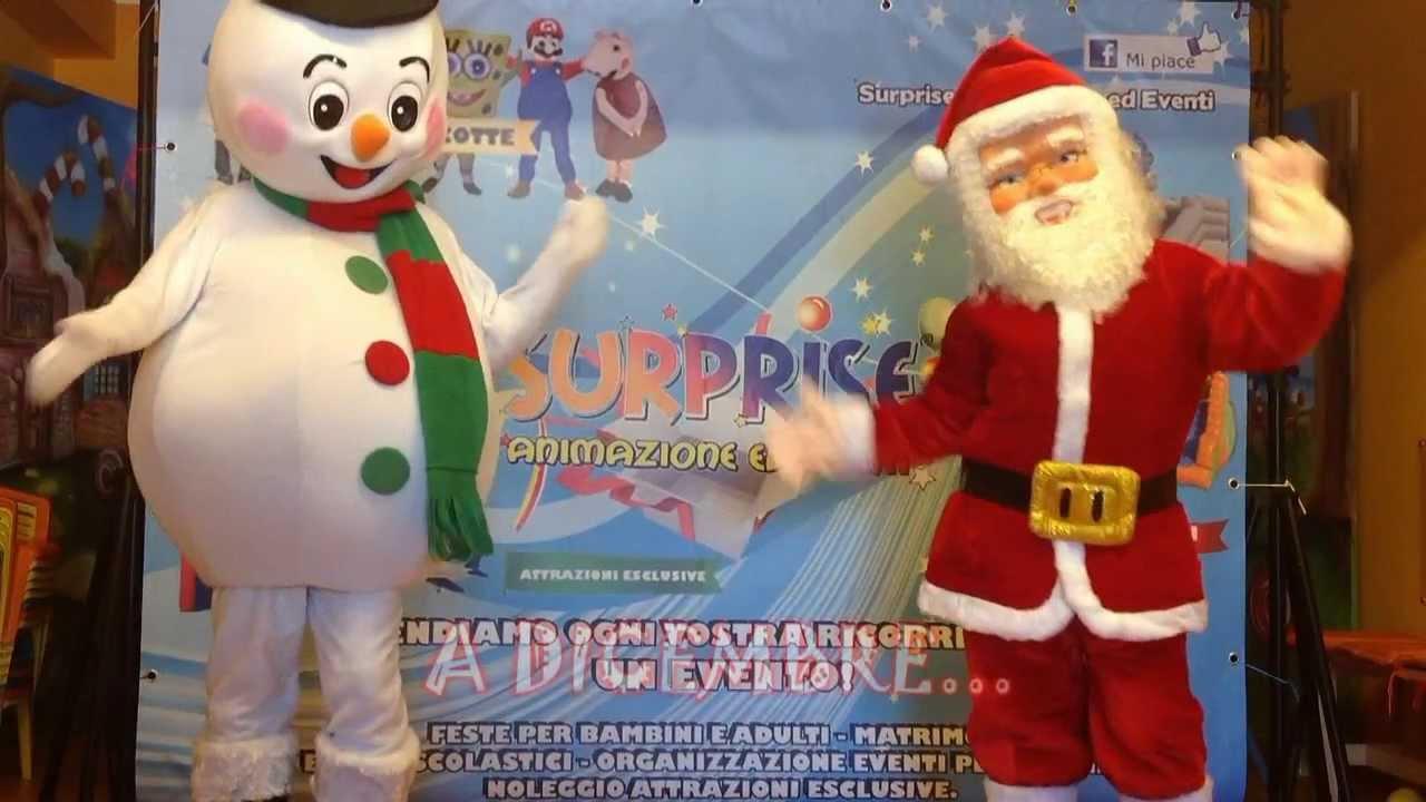 Babbo Natale Animazione.Babbo Natale E Pupazzo Di Neve Animazione Per Bambini Catania Siracusa Youtube
