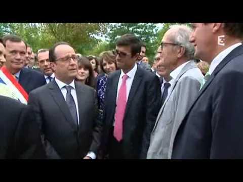 Visite de François Hollande au zoo de Beauval