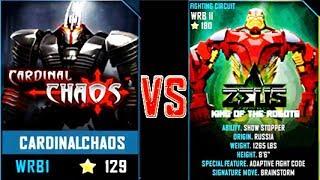 REAL STEEL WRB FINAL Cardinal Chaos VS ZEUS (CHAMPION) New Robots UPDATE (Живая Сталь)