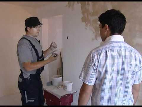 Tencuiala Decorativa Policolor Pret.Zugravirea Unui Perete Cu Vopsea Decorativa Youtube