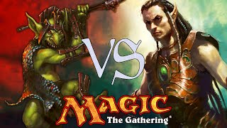 MtG Modern Gameplay - Elves VS Goblins