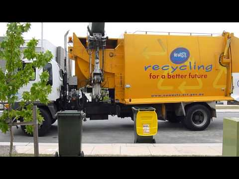 Recycling Garbage Truck Canberra Australia
