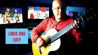 Linus and Lucy: Fingerstyle Guitar Cover видео
