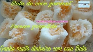 Balas de coco gourmet abacaxi com coco