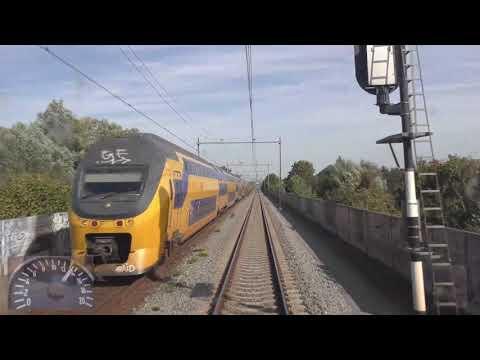 Meerijden met de machinist van ''s-Hertogenbosch naar Utrecht. (Met snelheidsmeter)