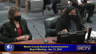 Martin County Board of Commissioners Apr 13,  2021 - Morning