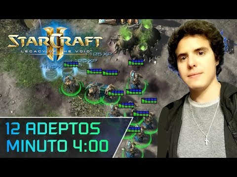 StarCraft ll - Estrategia Protoss vs. Zerg: Rush 12 Adepts Minuto 4