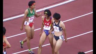 福井国体 少年女子B 100m決勝(12.39/風:-4.4) 2018.10 陸上/中学高校