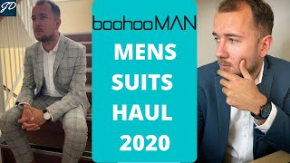 MENS BOOHOO MAN SUIT HAUL 2020 TRY ON SUITS AND SHIRTS HIT OR MISS JOSHUA DEAN