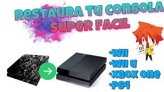 Restaura tu consola ps4,xbox one, wii u,wii y sacale brillo