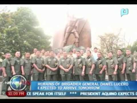 NewsLife: Remains of Brigadier General Daniel Lucero expected to arrive tomorrow