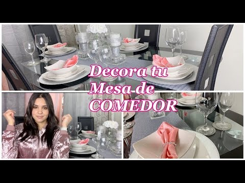 IDEAS PARA DECORAR TU MESA DE COMEDOR DIY CON DECORACIONES ECONOMICAS