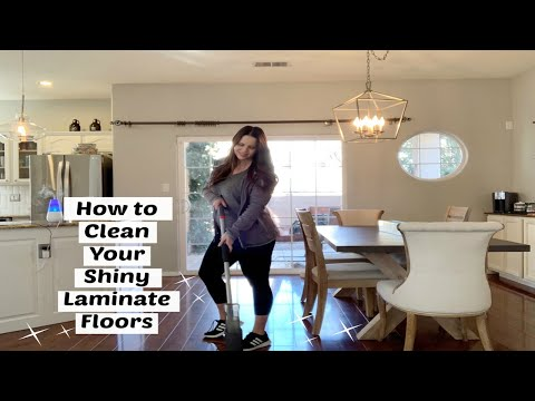 How to Clean your Shiny Laminate Floors// Swiffer Hack for Laminate Floors