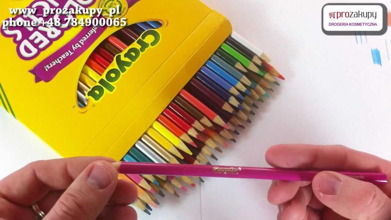 crayola 50 colored pencils 50 kredki oŁÓwkowe youtube
