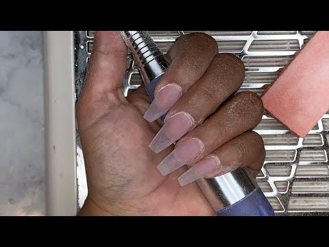 Watch Me Do My Nails | Acrylic Nails FullSet | Clear Acrylic Nails
