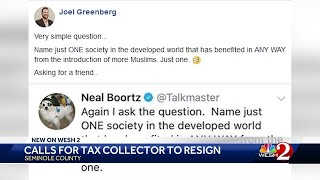 Social media post prompts calls for tax collector to resign