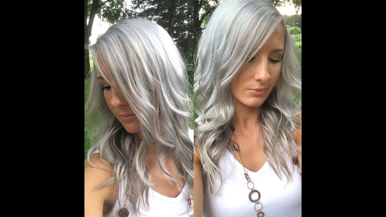 How I Get Silver Grey White Hair Youtube