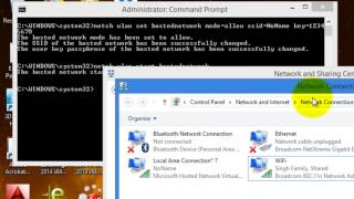 Creating Wifi Hotspot in Windows 8.1/Windows 8/Windows 7 a step by step Guide