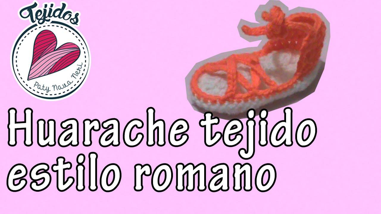 Niña Romano Crochet Estilo Tejido A Para Youtube Huarache iPOXukZ