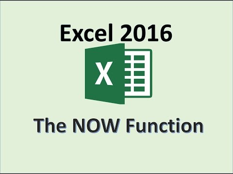 Excel 2016 - NOW Function - How To Add Current Date Formula In MS Office - Today Functions Formulas