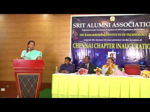MOTIVATIONAL SPEECH BY Dr. PARVEEN SULTANA @ SRIT ALUMNI CHENNAI CHAPTER INAUGRAL