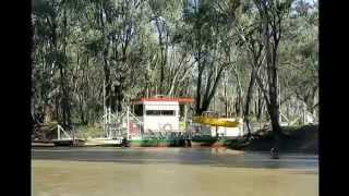 The Speewa 2 cable Ferry in operation on the Murray River (July 2014)