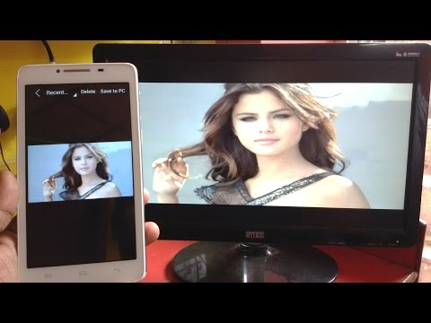 How To Display Photos From Phone To Desktop PC Screen (Wireless)