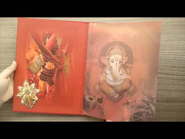 Indian Wedding Invitations on SevenPromises.com AVV/1337 - YouTube