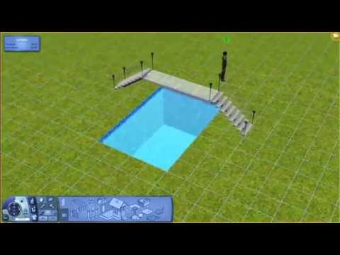 Sims 3 - Glass Bridge Over Pool Tutorial - YouTube