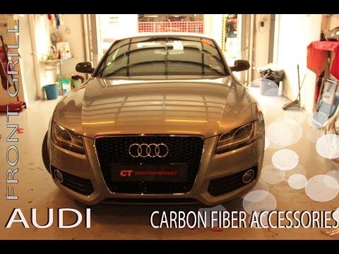 Audi RS5 Front Grill , Carbon Fiber Front Grill, Carbon Fiber Spoiler Installation !