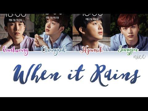 BTOB-BLUE(비투비-블루) – When It Rains(비가 내리면) Lyrics (Color Coded/ENG/ROM/HAN)