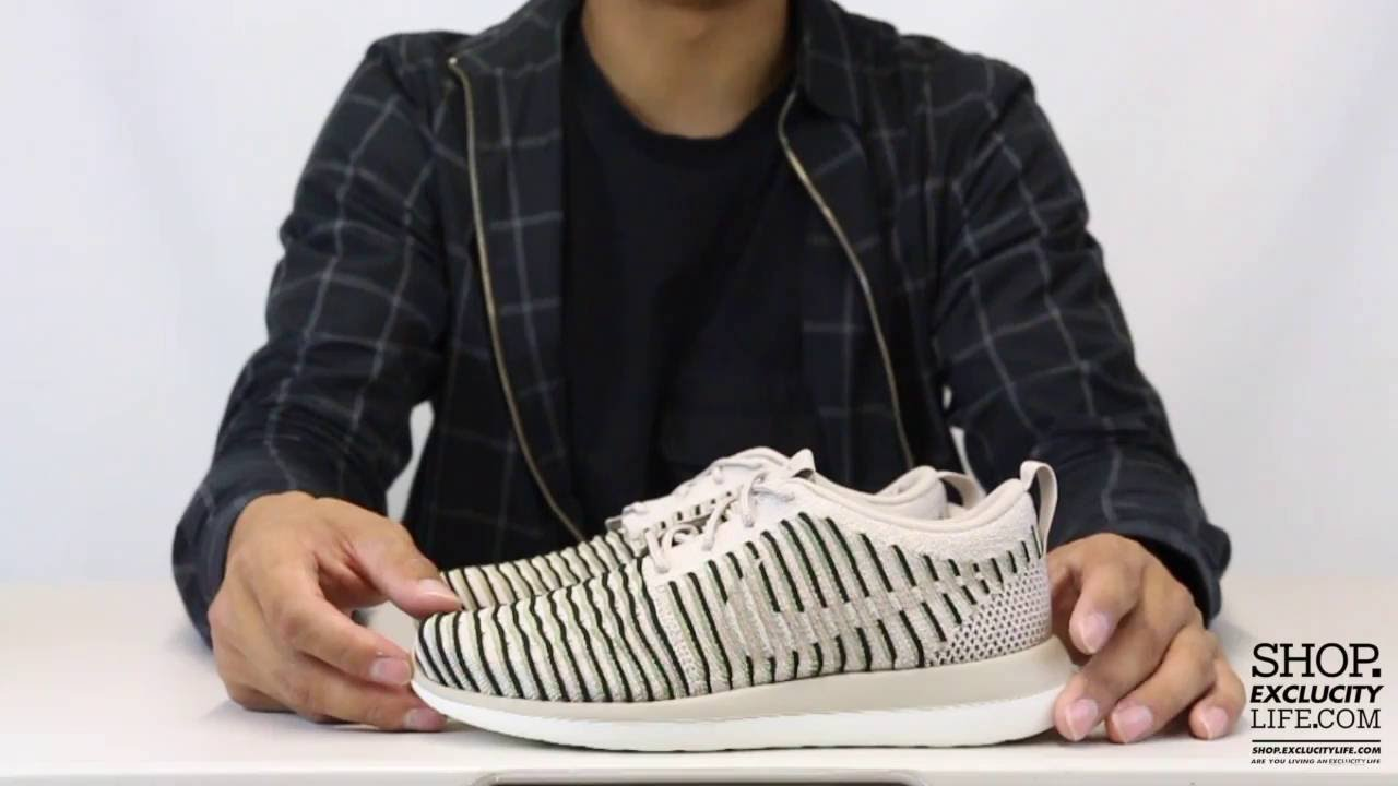sports shoes 7152c 30893 Women's Nike Roshe Two Flyknit - String - Olive - Unboxing Video at  Exclucity