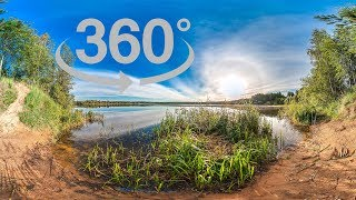 Relaxing 360 Video Slideshow With Sunset And Sunrise 4k. Relaxing Music With Amazing Nature Scenery.