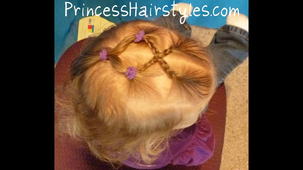 Criss Cross Braids Cute Toddler Hairstyles Youtube