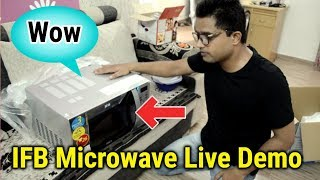 IFB Best Budget 25 Liter Microwave Unboxing And Live Demonstration in HINDI