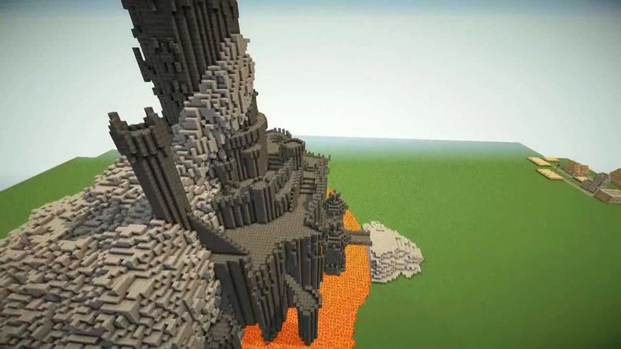 Minecraft barad dur the fortress of sauron with download for How do you make a blueprint