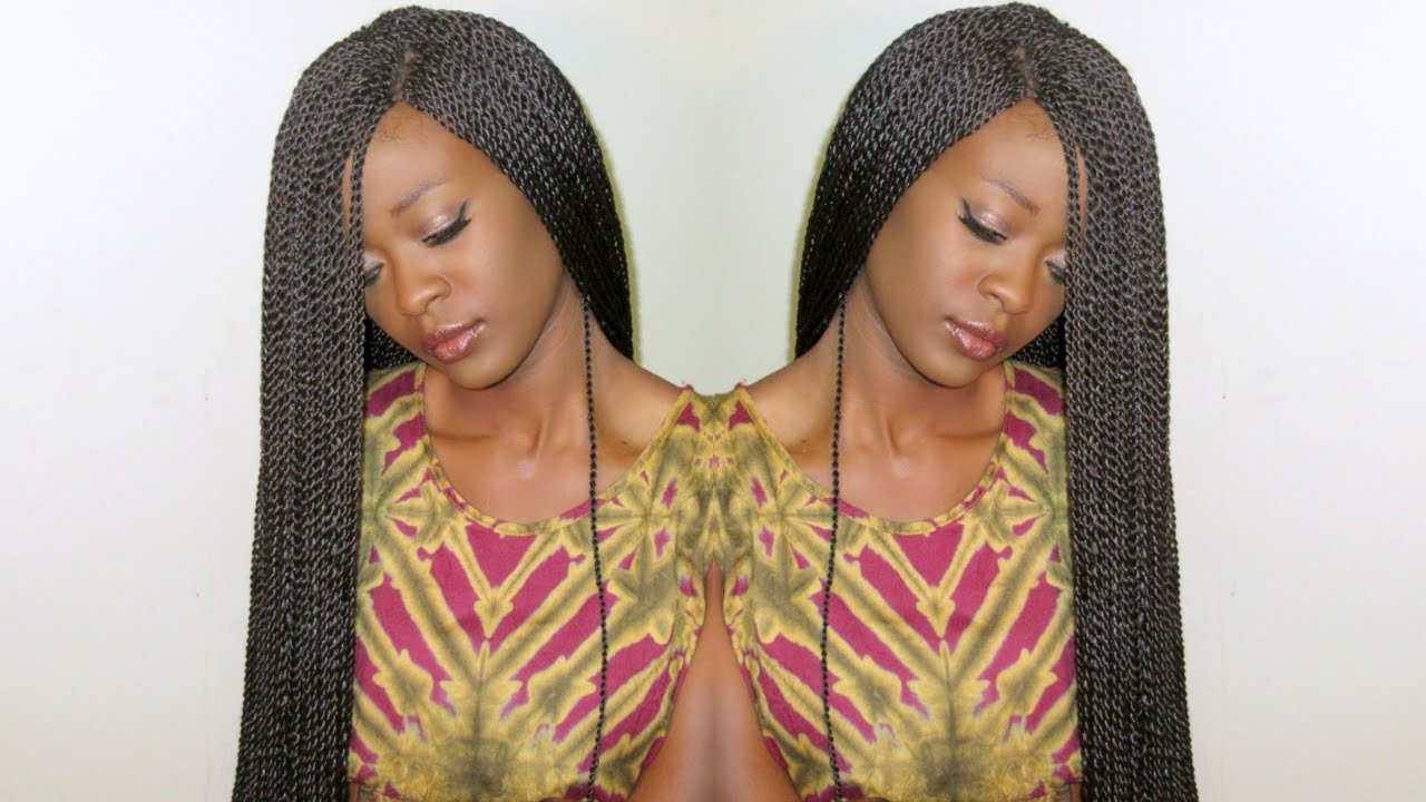 twist hair style 30 inch crochet twists on a braided wig cap shake n go 3495