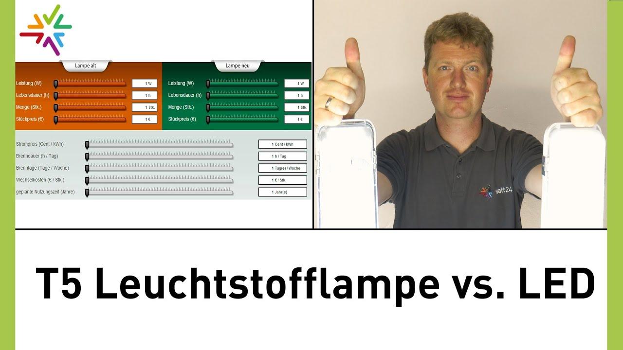 Vergleich T5 Leuchtstofflampe Vs Led Am Beispiel T5 Led