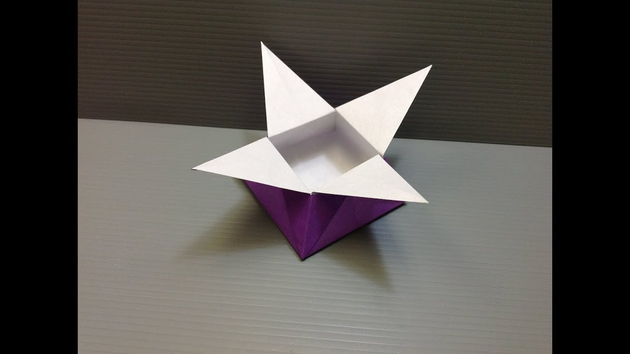 daily origami 024 star box youtube