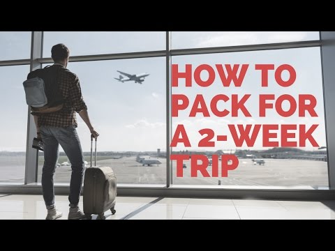 Making travel easier: How to pack for a two-week trip without checking a bag