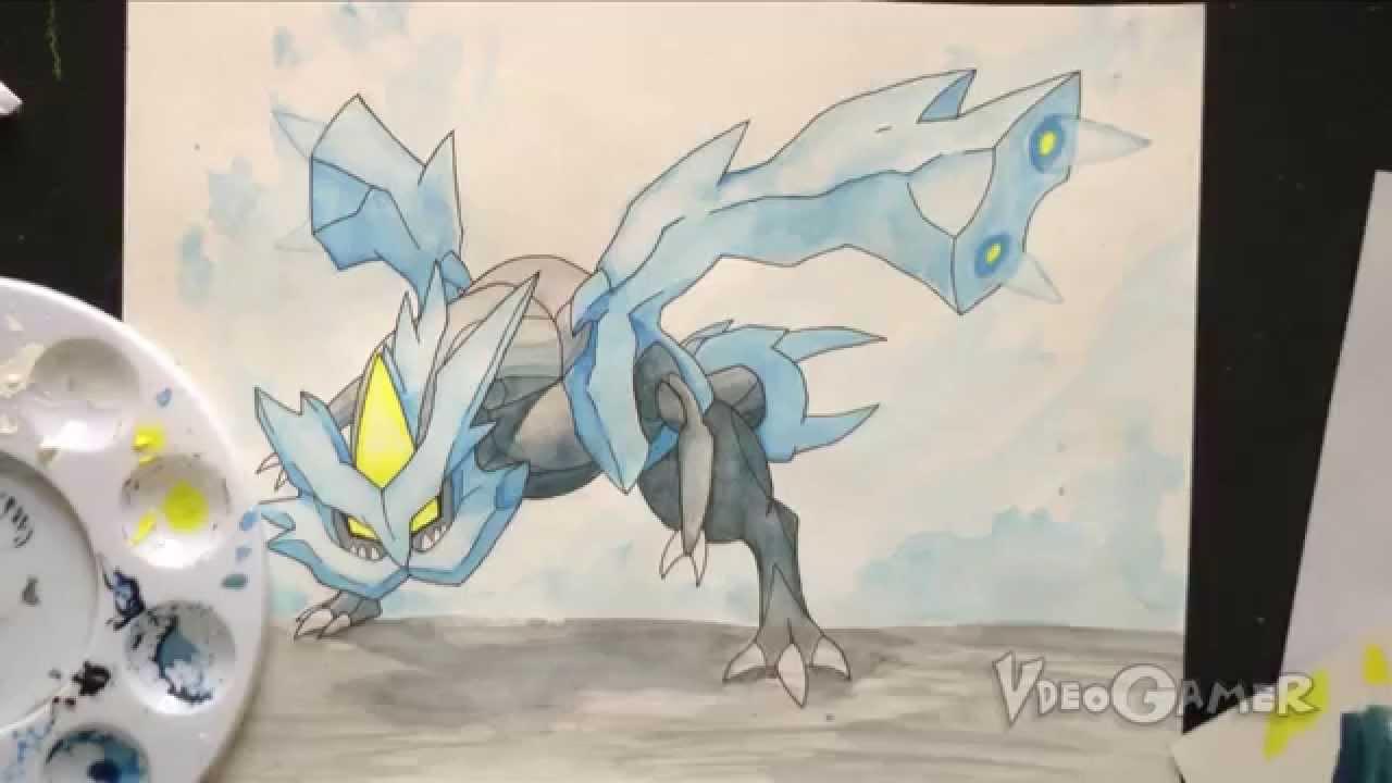 How to Draw Kyurem (Pokemon Black/White 2) - YouTube