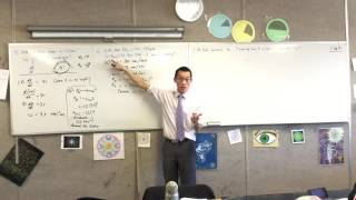 Uniform Circular Motion examples (2 of 2: On a flat surface)