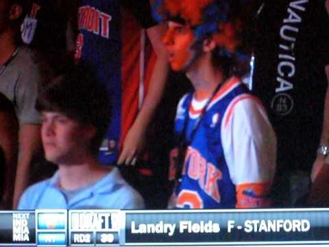 2010 NBA Draft - Knicks take Andy Rautins and Landry Fields