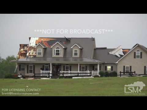 4 5 17 Rentz, GA Tornado Damage Multiple Homes Damaged