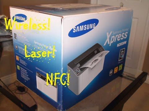 Samsung Wireless Printer Xpress M2020W - Unboxing